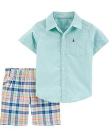carters 2-Piece Oxford Button-Front Shirt &...