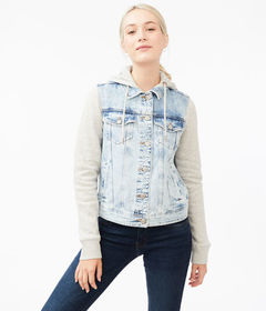 Aeropostale Hooded Denim Jacket