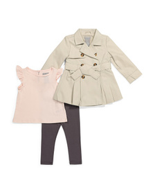 TAHARI Infant Girls Coat & Leggings Set