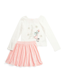 CATHERINE MALANDRINO Girls 2pc Parisian Girl Velou
