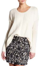 alice + olivia Boxy Wool Cable Knit Sweater