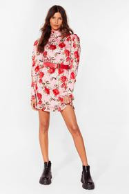 Nasty Gal Pink The Beat Grows On Floral Mini Dress