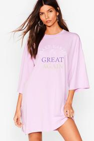 Nasty Gal Lavender Make Earth Great Again Embroide