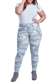Seven7 High Waisted Camo Utility Jeans (Plus Size)