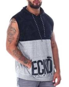 Ecko canons color block sleeveless hood (b&t)
