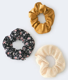 Aeropostale Faux Leather Scrunchie 3-Pack