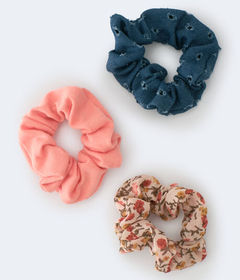 Aeropostale Denim Scrunchie 3-Pack
