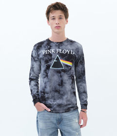 Aeropostale Long Sleeve Pink Floyd Tie-Dye Graphic