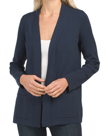 JONES NEW YORK SIGNATURE Open Front Cardigan