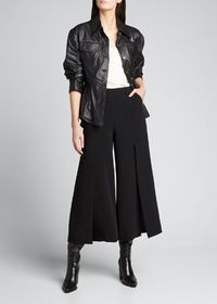 cinq a sept Scrunched Leather Canyon Jacket