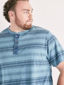 Lucky Brand Big And Tall Novelty Henley Tee