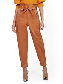 Belted Paperbag-Waist Pant - 7th Avenue - New York