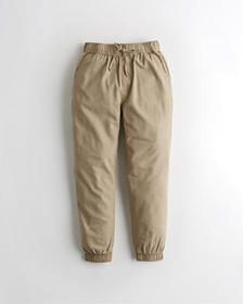 Hollister Ultra High-Rise Twill Joggers, BROWN