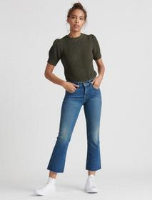 Lucky Brand Mid Rise Ava Crop Mini Boot