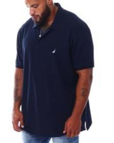 Nautica solid anchor classic fit deck polo (b&t)