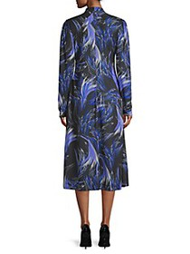 Givenchy Tie-Neck Print Dress