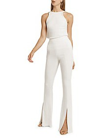 Cushnie Sleeveless Jewel Neckline Top