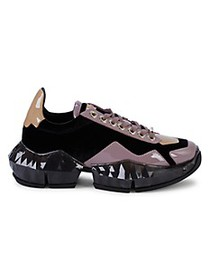 Jimmy Choo Mixed-Media Colorblock Chunky Sneakers