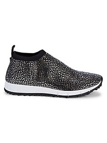 Jimmy Choo Norway Crystal-Embellished Slip-On Snea