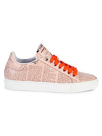 John Galliano Low-Top Newsprint Sneakers