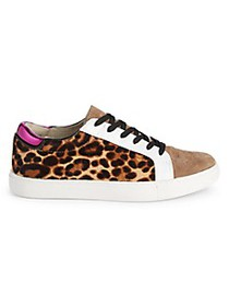 Kenneth Cole Leopard Calf Hair Leather Sneakers