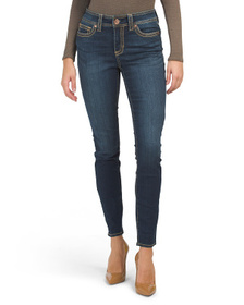SEVEN7 Mid Rise Thick Stitch Rocker Skinny Jeans
