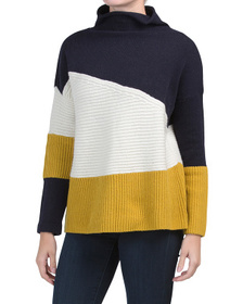 FRENCH CONNECTION Patchwork Tonal Sweater