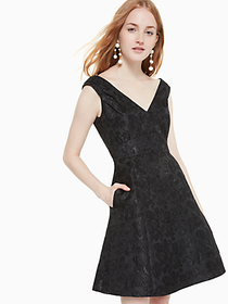 Kate Spade metallic jacquard dress