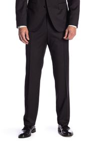 BOSS Gibson Solid Black Wool Suit Separates Trouse