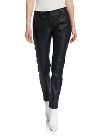 Piazza Sempione Leather Slim Pants