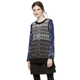 Thakoon for DesigNation Cable-Knit Tunic Sweater V