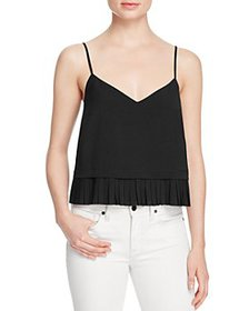 FRENCH CONNECTION - Crepe Pleated Hem Top