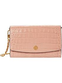 Tory Burch Robinson Embossed Chain Wallet