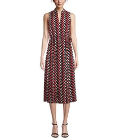 Anne Klein Broadway Lights Drawstring Midi Dress