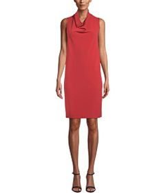 Anne Klein Cowl Neck Shift Dress