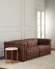 Hooker Furniture Luca Tufted Leather Motion Sofa 8