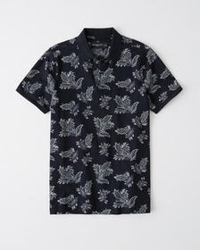 Pattern Pique Polo, NAVY BLUE PAISLEY