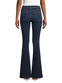 Frame Le High Pintuck Flare Jeans