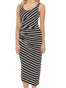 Women's Dress Small Striped Ruched Sheath S