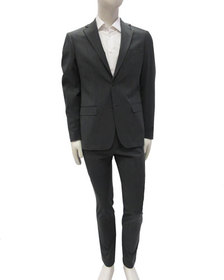 DKNY Men's Solid Washable Two-Piece Suit