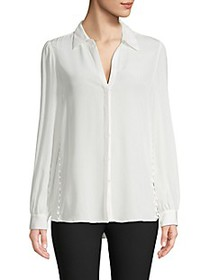 L'Agence Side Button Silk Tunic
