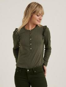 Lucky Brand Ruffled Henley Top