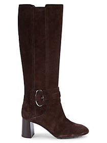 Tod's Gomma Suede Knee-High Boots