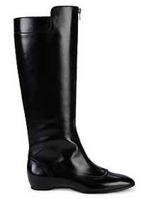 Tod's Cuoio Knee-High Leather Boots