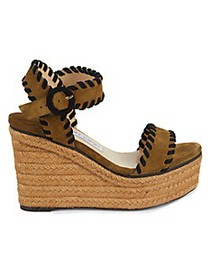 Jimmy Choo Suede Espadrille Wedge Sandals