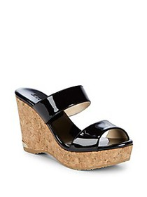 Jimmy Choo Patenet Wedge Sandals