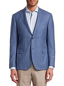 Saks Fifth Avenue COLLECTION District Check Wool S