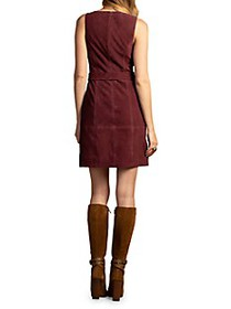 Trina Turk Wine Country Sultana Belted Suede Mini