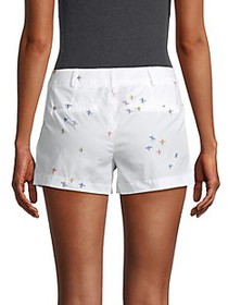 Milly Printed Cotton Shorts