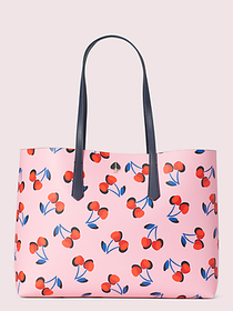 Kate Spade molly cherries large tote